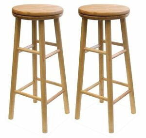 Winsome Wood 30-Inch Swivel Seat Barstool with Natural Finish, S