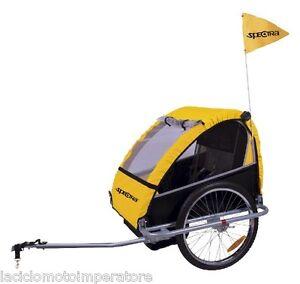 Carrello bici portabimbo 2 posti spectra rimorchio porta - Carrello per bici porta cani ...
