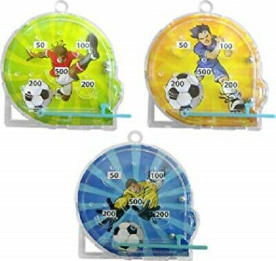 12 Mini Football Pinball Games Boys Birthday Party Loot Bag Fillers Favours