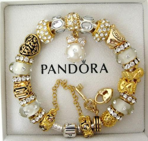 Authentic Pandora Bracelet Gold Ebay