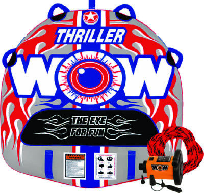 WOW Thriller 1 Rider Inflatable Water Tube Boat Towable Starter KIT 18-1110