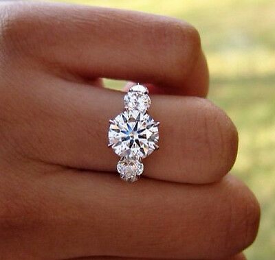 2.20 Ct. Natural Round Cut 5-Stone Diamond Engagement Ring - GIA Certified