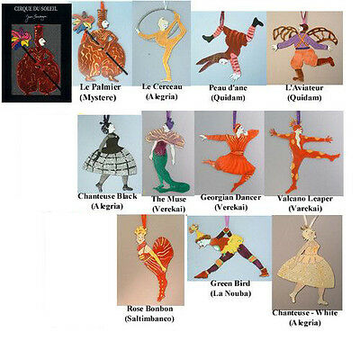 Cirque Du Soleil, Set Of Eleven Ornaments, by Whimsical Artist Judie Bomberger