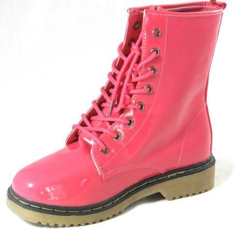 pink patent leather boots ebay