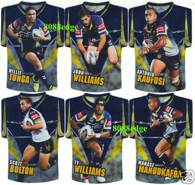2009 SELECT NRL CLASSIC DIE-CUT FOIL JERSEY TEAM SET: COWBOYS - TONGA/WILLIAMS image