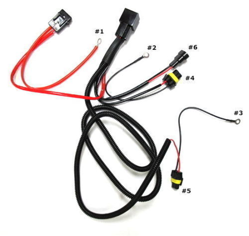 Set of Xenon HID Relay Harness 40A AMP Connector HID