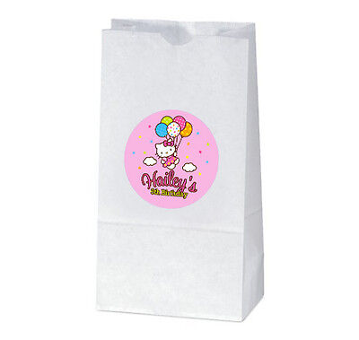 Hello Kitty Goody Bags (12 Hello Kitty Balloon Dreams Birthday Party Personalized Treat Bag)