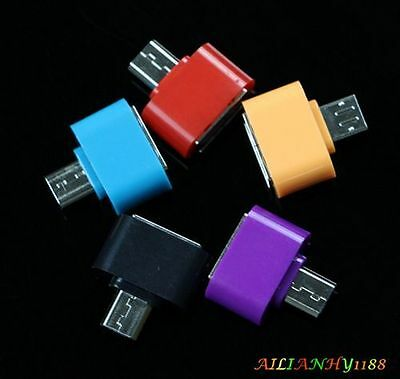 Mini Small Micro USB Male to USB 2.0 Female Adapter OTG Converter For Android if