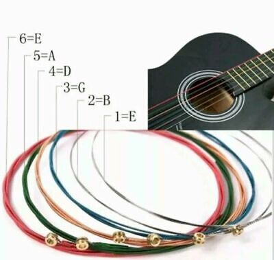Guitar Strings Electric Acoustic Folk Set Musical Instruments String Rainbow