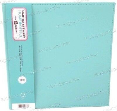 Martha Stewart Avery Smooth Finish Binder 1 Gap-free 3 Ring Large 8.5 Wide Blue