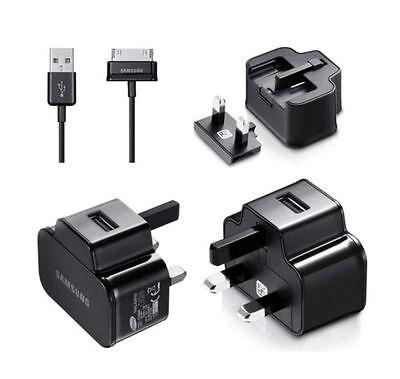 GENUINE ORIGINAL SAMSUNG GALAXY TAB 2 7.0 P3110 UK MAINS CHARGER + USB CABLE