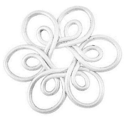 5 x Silver Plated Flower Joiner Beads