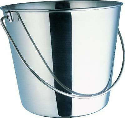 800102 Stainless Steel 6 Quart Pail Food Water Bucket Animal Dog Kennel Farm 6 Quart Stainless Pail