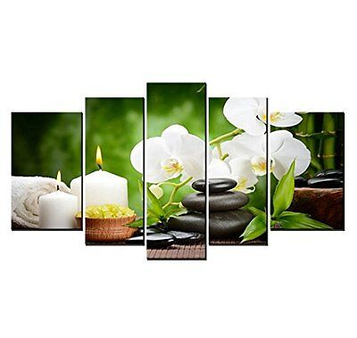 5 Panels Spa Pick Pictures Wall Art Painting Canvas Prints Home Bathroom Decor