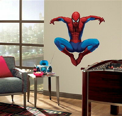 The Amazing Spider-Man Giant Peel and Stick Wall Sticker Decal SEALED UNUSED Amazing Spider Man Peel