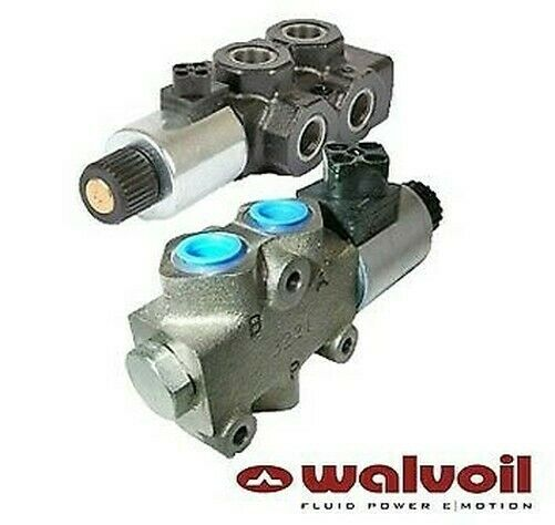 Walvoil Solenoid Spool Diverter Valve, 3 Way