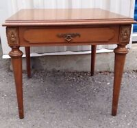 Side end coffee table with drawer - wood