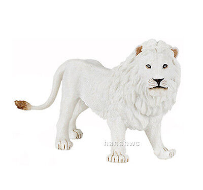 FREE SHIPPING | Papo 50074 White Male Lion Wild Animal Figurine - New in Package