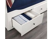 Ikea Hemnes Day bed in an off white Four functions sofa, single bed, double bed and storage solution