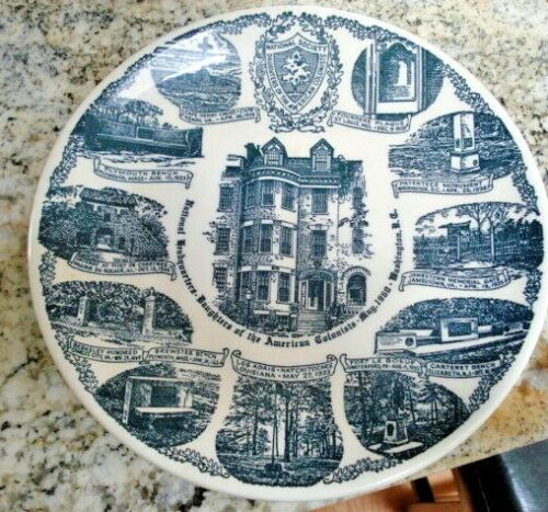Daughters Of American Colonist National Headquarters 25 Year Anniversary Plate