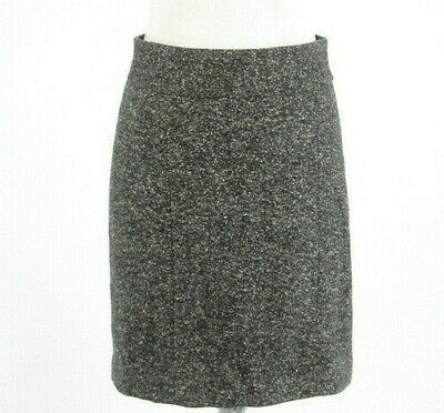 BANANA REPUBLIC Madmen 6 New Gray Tweed Wool Silk Pencil Skirt Rockabilly -