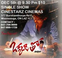 two telugu movie in toronto from Dec 3 to Dec 5