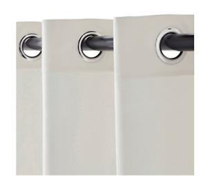 1 panneau de rideau blanc coton épais-Thick white cotton curtain