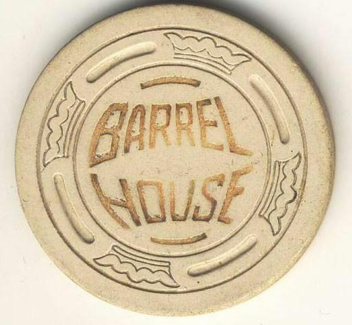 Barrel House Casino Fallon NV Cream Roulette Chip 1935