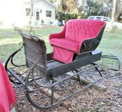 Sleigh Vintage, Wooden, Horse or Christmas