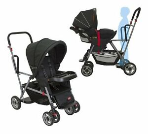 same as new Joovy Caboose double seat stroller with other items