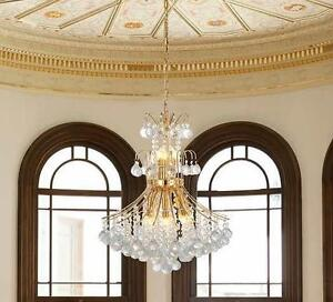 NEW OVE LED CRYSTAL CHANDELIER Windsor III LED Crystal Chandelier in Gold  (22 in. x 22 in. x 26 in.) 100755161