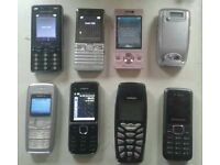 Various Smartphone mobile phone Sony Ericsson, Samsung, Nokia