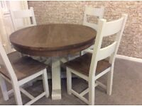 MASSIVELY REDUCED - Ex Display - Rustic reclaimed wood - Table & 4 Chairs