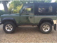 Land Rover Defender 90. 4.6 V8 TVR engine replacement. Lots of modifications.