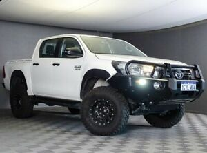 2019 Toyota Hilux GUN126R SR Double Cab White 6 Speed Sports Automatic Utility Maddington Gosnells Area Preview