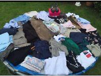 Large bundle of clothes