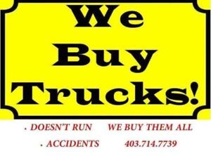 TOWING FOR SCRAP CARS/TRUCKS! WILL PAY TOP $$$