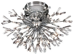 Spectacular 43-Light Chrome & Crystal Showpiece by Eurofase