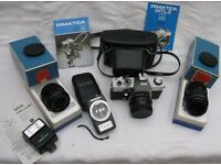 Praktica MTL 3 Camera with accessories