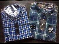 Mens checked shirts x 2