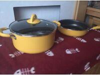 2 large pots and pans
