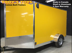 Single Axle 6' x 10' V-Nose Cargo Trailer with 3 Year Warranty