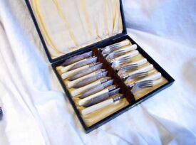 Vintage Cutlery Set In Original Case