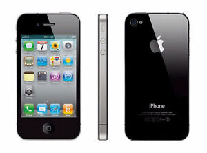 APPLE IPHONE 4 32GB BLACK WORKS ON BELL WORKS EXCELLENT 3 CASES