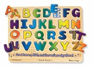 Brand New - Melissa & Doug Alphabet Sounds Puzzle