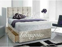 Double £199, king £229. 2 Drawers, big mattress and headboard