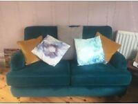 New Teal Velvet Sofa