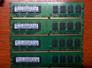 8GB Kit (2GBx4qty) DDR2 800MHz (PC2-6400) CL6 Unbuffered UDIMM 2