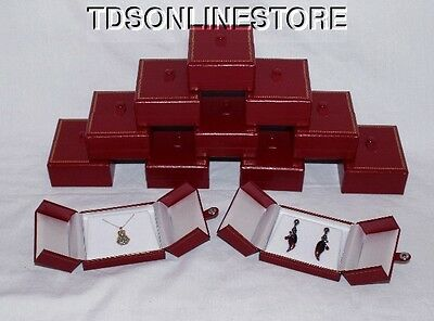 Very Elegant Double Door Pendantearring Gift Boxes 12 Pc Red