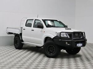 2014 Toyota Hilux KUN26R MY14 SR (4x4) White 5 Speed Automatic Dual Cab Pick-up Jandakot Cockburn Area Preview